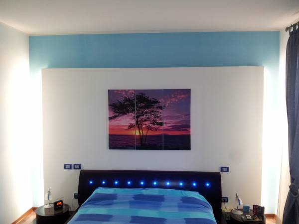 Retroilluminazione a neon parete in cartongesso - Camera da letto cartongesso ...