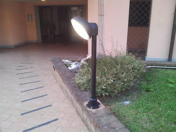 Illuminazione giardino condominiale