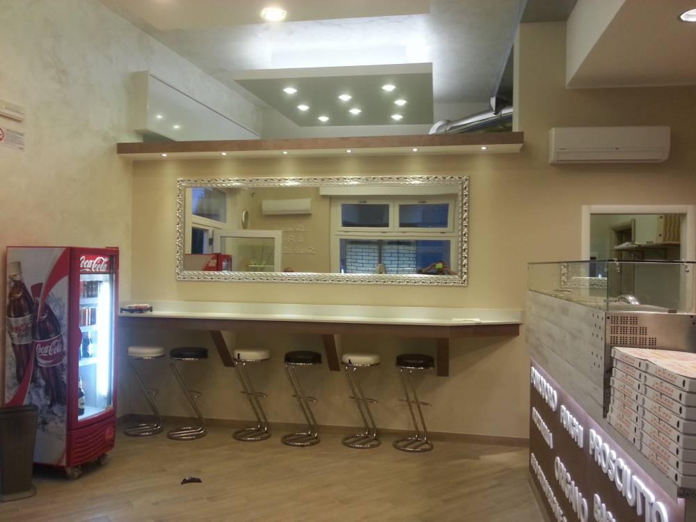 Impianto elettrico e di illuminazione pizzeria da asporto